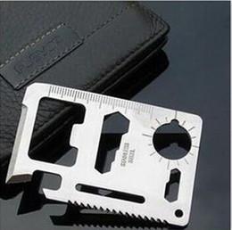 Faca de ferramenta universal on-line-LargeDHL ou Fedex Frete grátis multi-função ferramenta de cartão faca universal de acampamento ao ar livre cartão de economia de vida 30g-500 pcs