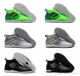Wholesale Soccer Cleats For Boys - 2018 original ace 17 indoor soccer cleats ACE Tango 17 Purecontrol TF IC boys football boots turf soccer shoes for kids Turbocharge Pack ho