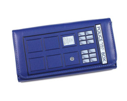 Wholesale Quality Stock Photos - Wholesale- Doctor Who TARDIS Embossed Flap Wallet with Tag Good Quality and in stock