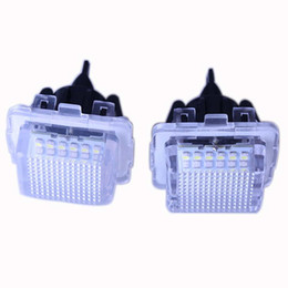 Wholesale Mercedes Plates - Error Free 18 3528 SMD LED License Plate Lights Lamp for Mercedes-Benz W204 W212