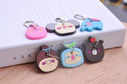 Ponto chaveiros on-line-23 Estilos Chaveiros minion Silício chave macia cobre cadeias de panda Casos Chaveiro Stitch Retail embalagem Frete Grátis