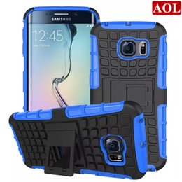 Wholesale Galaxy S3 Back Cover Blue - Armor Hybrid Kickstand Cover Combo Hard PC +TPU Back Case For Samsung Galaxy S7 S6 edge Plus S5 S4 S3 with free gifts