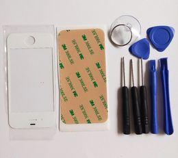 Blanc Noir Haute Qualité Nouveau Verre Extérieur pour iPhone 4 4S 5 5G 5S 5C LCD Écran Tactile Panneau Digitizer Avant Lentille En Verre + Outils + Adhésif ? partir de fabricateur
