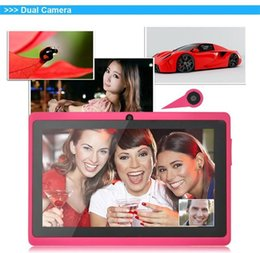 """Wholesale Tablets Webcam Sale - Sale Under $28 Quad Core Red 2016 7"""" Inch A33 Android 4.4 Kit Kat 8gb Tablet Pad Pc Wifi Bluetooth Camera"""