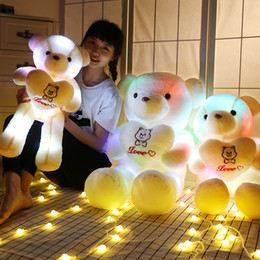 Wholesale Wholesale Teddy Bears For Valentines - colorful music teddy bear giant huge Large teddy bears stuffed cute plush toys for Birthday Valentines christmas Gifts toycity B001