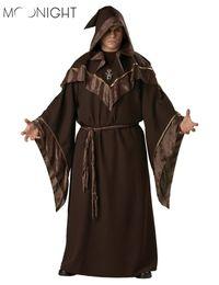 Wholesale kids wizard costume - Moonight Halloween Costumes Adult Mens Gothic Wizard Costume European Religious Men Priest Uniform Fancy Cosplay Costume For Men kids