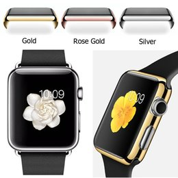 Wholesale Gold 2mm - 2016 New Arrival Ultra Thin(2MM) Full Body Cover Case for Apple Watch 38MM 42MM with Built-in Screen Flim Protector Free Shippping