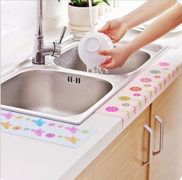 Wholesale Glass Kitchen Basin - Hutch defends Self adhesive kitchen sink vegetables basin sink bathroom toilet waterproof stickers affixed to water pollution sticker