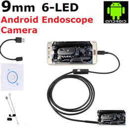 Wholesale Endoscope Borescope Camera - 9mm Android Smartphone Endoscope USB Borescope 1M 1.5M 2M 3M 5M Cable 2 Million Pixel Waterproof Inspection Snake Camera for Android System