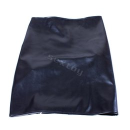 Wholesale Adult Skirts - Fetish Bondage Restraints Black PU Butt Exposed Package Skirt Sexy Costume Adult Games Cosplay Sex Slave Bdsm Sex Toys for Women