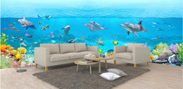 Wholesale Living Proof Full - 3d room wallpaper custom photo mural Full scene 3D underwater world landscape painti painting picture 3d wall murals wallpaper for walls 3 d