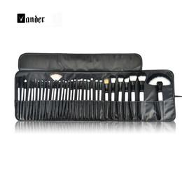 Wholesale Professional Make Up Bags - NEW 36 PCS Complete Makeup Brush Set Professional Luxury Make Up Tools Kit Powder Blending brushes with leather bag Beauty Tools