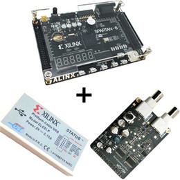Wholesale Computer Downloads - Xilinx spartan 6 FPGA kit FPGA spartan 6 XC6SLX9 development board + Platform USB Download Cable+8 bit AD DA Module