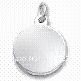Wholesale Cheap Engraving Gifts - 50pcs Zinc Alloy Gold Rhodium Plated DIY Can Be Engraved Polished Round Disc Charm Charms Cheap Charms