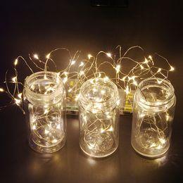 Luci di stringa viola online-10M 33FT 100 LED String Mini Fairy Lights 3AA Battery White / Warm White / Blue / Yellow / Green / Purple / Multicolors Luci decorazioni natalizie
