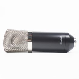 Wholesale Microphone Pro - Pro DJ and studio recording electret condenser microphone NO NEED phantom power mic with Black&Blue Two Color Choice