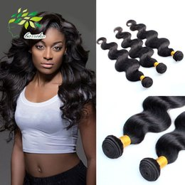 Wholesale Cheap Wholesale Black Hair Products - Peruvian Hair Weave Body Wave 4 Bundle Deals 7a Grade Unprocessed Human Hair Extensions Cheap Raw Peruvian hair products DHL Fast Shipping