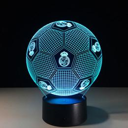Canada Real Madrid Football Style 3D Lampe De Table Cadeaux De Noël Veilleuses Night Light Lamps Offre