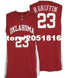 Wholesale Custom College Shirts - wholesale Mens #23 Oklahoma Sooners Blake Griffin College Basketball Jerseys Red Retro Stitched Sports Jersey Shirt Custom any Number