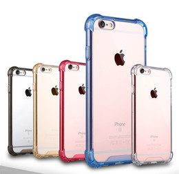 Wholesale Tpu Hard Case - Transparent Shockproof Acrylic Hybrid Armor Bumper Soft TPU Frame PC Hard Case Cover for iPhone 8 7 6s Plus X Samsung Note 8