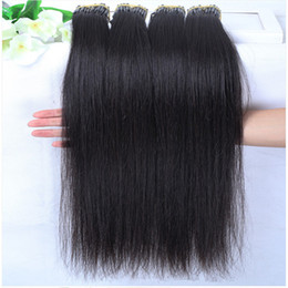 Wholesale Wholesale Pre Tipped Hair Extensions - 1 lot =10 pieces Pre Bonded Flat Tip Hair Extensions 8-30 inch Malaysian Brazilian Peruvian Human Hair 8A grade