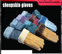 Wholesale Leather Plain Wholesale Factory - Winter women wool gloves Five Fingers sheepskin wool gloves locomotive suture 100% genuine wool inner factory prices sale