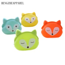 Wholesale Bunny Wallets - Wholesale- candy color owl bunny cat silicone coin purse kids gift cartoonTrendy baby Mini coin bag lady change purse women smart wallets