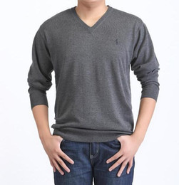 Wholesale Woolen Sweaters - Wholesale-New Arrival O-Neck Plus Men's Cashmere Pullovers Casual Sweaters Pure Color Basic T-Shirt Men Woolen Sweater Free shipping