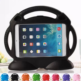 Wholesale Ipad Tablet For Kids - Tablet PC bags Kids Safe Thick Foam Shock Proof EVA Handle Case Cover Stand For iPad 2 3 4 air1 2 iPad Mini