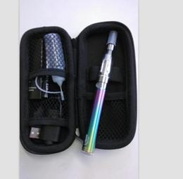 Wholesale Ego Twist Box - Ego starter kit Vision Spinner Rainbow Battery CE4 atomizer Zipper box eGo C Twist variable voltage ego twist battery Electronic cigarette