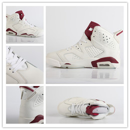 Wholesale Mens Suede Shoes Boots - With box 6 MAROON infared 6s Basketball Shoes Mens red white Athletics Shoes VI women Sports Shoes Sneakers low Boots size 36-47