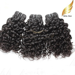 26 inch hair extentions Promo Codes - bonne qualitecheveux bresilien vierge Extentions couleur natrel 4pcs Lot Human Hair Wavy Water Wave Hair livraison gratuit