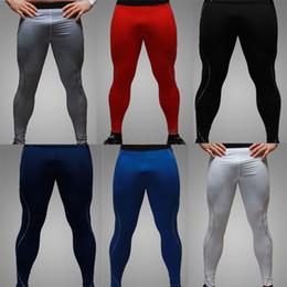 Wholesale Soccer Pants Wholesale - Wholesale-Newset Men Quick Dry Gym Compression Pants Fitness Men Sport Joggers Running Basketball Soccer Pants Pantalones Tights Trousers