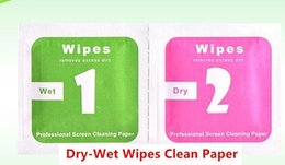 Wholesale Phone Cleaning - Dry Wet Wipes For Mobile Phone LCD Screen Clear Tempered Glass Protector Film Alcohol Cleaning Cloths