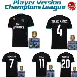 Wholesale Shirts Large - 2017 2018 Player version Real madrid soccer Jerseys 17 18 CR7 RONALDO MODRIC BALE ISCO Jerseys shirts Extra large size S-2XL-3XL