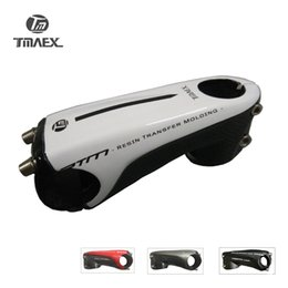 "Wholesale Fibre Fiber - 2017 New type 3k Carbon Stem 1""1 8 Road Mountain Bike White Stem 80 90 100 110mm 6 Degrees Carbon Fiber Cap Stem"