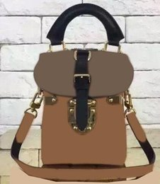 Wholesale Purse Camera - 2016 CAMERA BOX M43039 M43001 M42999 pouch purse women's calfskin leather small mini cute handbag FRANCE luxury clutch Leather camera case