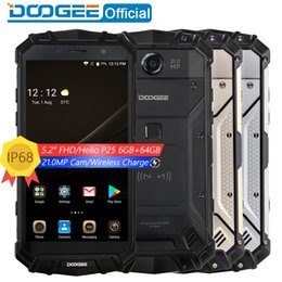 Wholesale cordless charging - Real IP68 DOOGEE S60 Wireless Charge 5580mAh 12V2A Quick Charge 5.2'' FHD Helio P25 Octa Core 6GB 64GB Smartphone 21.0MP Camera