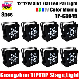 Wholesale Small Fan Led Lights - Freeshipping TIPTOP TP-G3045 12X12W RGBW 4IN1 Iron Case Flat Led Par Light Small Lens Good Color Mixing Effect Silent Fan Work