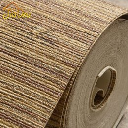 Wholesale Texture Wall Paper Roll - High Quality Nature Straw Texture Vinyl Wallpaper Roll Modern Deep Embossed Bedroom Livingroom Background Interior Wall Covering
