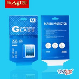 Wholesale Mini Mirror Box - 100pcs Wholesale Universal High Quality Retail 9H Tempered Glass Protector Packaging Box For iPad mini iPad 2 3 4 8 inches 10 inches