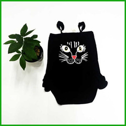 Wholesale Owl Tutu - baby girls rompers owl animal printed sleeveless overalls black fashion kids female summer jumpsuits dress hot selling fast free shipping