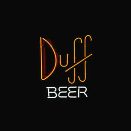 Wholesale Duff Beer - SIMPSONS DUFF BEER STORE BAR REAL Real Glass Neon Light Sign Home Beer Bar Pub Recreation Room Game Room Windows Garage Wall Sign