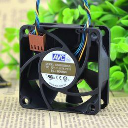 avc 12v dc fan Rabatt Großhandels- Freies Verschiffen AVC DS06025B12U P011 60mm 6cm DC 12V 0.70A Pwm-Serverinverter-Kühlventilator