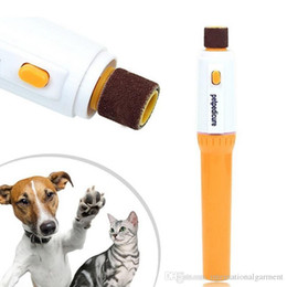 Wholesale Paw Care - Free Shipping DHL Care Automatic Pet Grinder File Electric Pet Dog Puppy Cat Paw Claw Toe Nail Grinder Grooming Trimmer Clipper