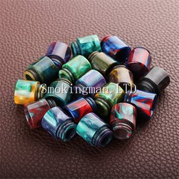 Wholesale Usa Bearings - Hottest Epoxy Resin drip tip Colorful Resin Wide Bore drip tips for TFV8 Atomizer Tank Kooper Primus 300W Mod & H-PRIV TC Mods popular USA