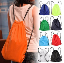 Wholesale Sports Shoes Dance - 2017 New Premium School Drawstring Duffle Bag Sport Gym Swim Dance Shoe Backpack Free Shipping