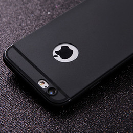 Wholesale Dust Cover Phone - Hot Silicone Case for iphone 7 6 6s Cover Soft TPU Matte Phone Case Shell with DUST CAP for Apple iphone 7 plus