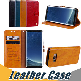 Wholesale S3 Wallet Blue - For Samsung Note 8 Wallet Leather Case with Card Slot Flip Stand Case For Samsung A3 A5 2016 2017 G530 S3 S5 S4 Mini