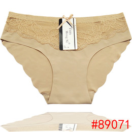 Wholesale Pretty Girls Panties - 2016 Pretty LacedUltra Thin Women Short Brief Seamless hipster plus size laced Boyshort Sexy invisable lady panties Hot Girl underwear
